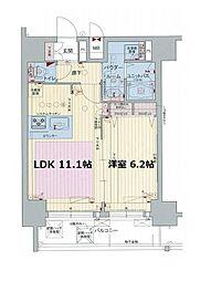 プレサンス阿波座ステーションフロント[15階]の間取り