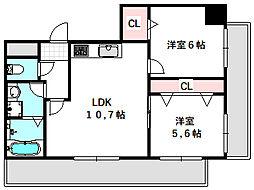 新築DHマンション 3階2LDKの間取り