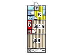 スズキガーデンA[2階]の間取り
