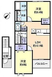 DreamII[2階]の間取り
