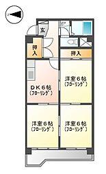 メゾン井川[2階]の間取り