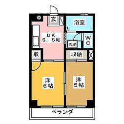 サンハイツPART1[1階]の間取り