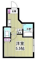 リバーサイド滝頭A[2階]の間取り