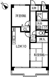 エコタウン勝川[662号室]の間取り