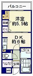 ハーモニアスコートN&M[2階]の間取り