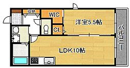 シャーメゾンエトワール[2階]の間取り