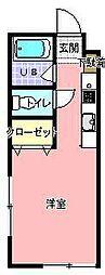 会澤コーポ[102号室]の間取り