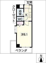 パレスヤマハン[2階]の間取り