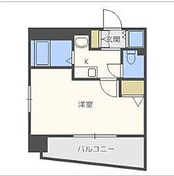 エスリード東梅田[7階]の間取り