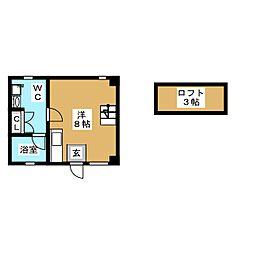 千種ハウス[2階]の間取り
