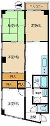 梅島コーポ[401号室]の間取り