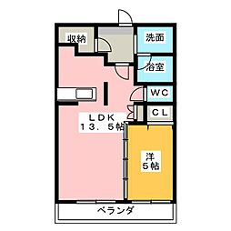オースィニ21[1階]の間取り
