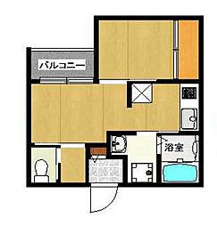 SMILEAX博多駅東[203号室]の間取り