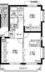 ユーミー小松B[1階]の間取り