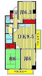LAZFITH SHINYABASHIRA[1階]の間取り