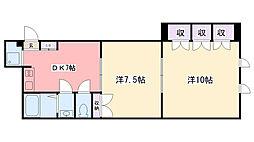 前林ビル[2-3号室]の間取り