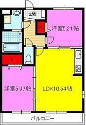 Vila Lagh Place 3階2LDKの間取り