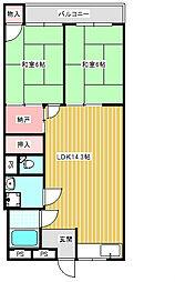 セブン西川マンション[202号室]の間取り