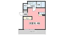 シモムラビル[303号室]の間取り