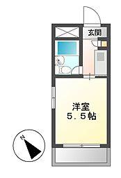 ドール呼続[3階]の間取り