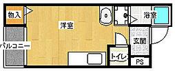 マンションアサノII[2階]の間取り