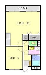 レザンヨシダB[2階]の間取り