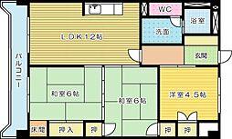 アヴィニール金田Ⅱ[201号室]の間取り