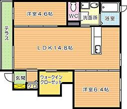 ヴィラフォレスト A棟[1階]の間取り