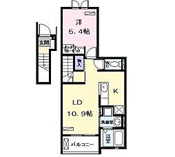 Casa Viola[0202号室]の間取り