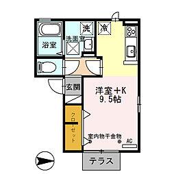 ラグーンM[1階]の間取り