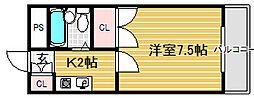 アメニティ香ヶ丘[2階]の間取り