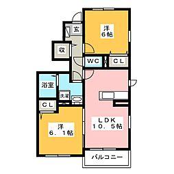 ミーティア[1階]の間取り