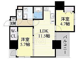 ノルデンハイム江坂アドバンス[3階]の間取り