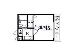 プレジデント河合[2階]の間取り