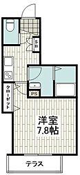 小田急江ノ島線 湘南台駅 徒歩7分の賃貸マンション 1階1Kの間取り