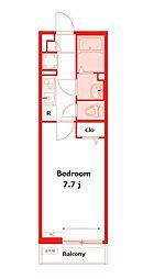 相鉄本線 鶴ヶ峰駅 徒歩6分の賃貸マンション 3階1Kの間取り