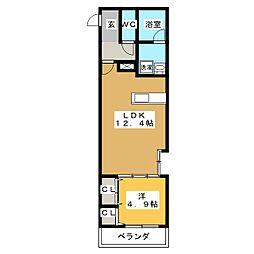 ドルチェヴィータ東静岡 3階1LDKの間取り