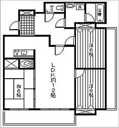 グリーンヒルズマンションパレット[6号室]の間取り