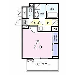 クーランデール A[2階]の間取り