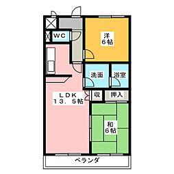ウイステリアパレス[3階]の間取り