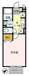 神奈川県厚木市愛甲2の賃貸アパートの間取り