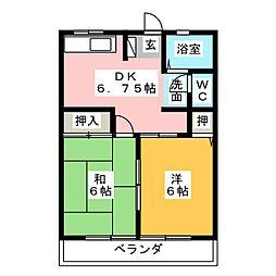 ベルメゾンB棟[1階]の間取り