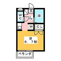 メゾンド喜多山[1階]の間取り