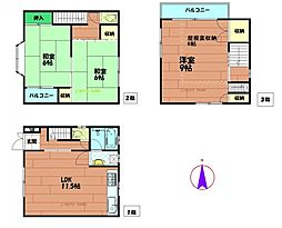 [一戸建] 大阪府大阪市福島区野田5丁目 の賃貸【/】の間取り