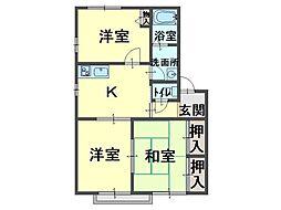 ラフォーレJ・N・2[1階]の間取り