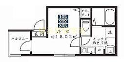 磯子区東町アパート[3階]の間取り