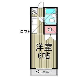 鎌倉富士見パレス[201号室]の間取り