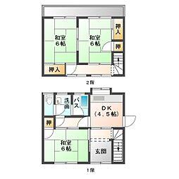 [タウンハウス] 愛媛県新居浜市新田町2丁目 の賃貸【/】の間取り