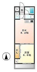 城木館[4階]の間取り