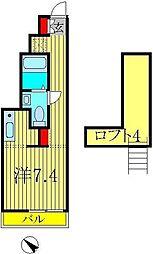 メゾン ド イール II[201号室]の間取り